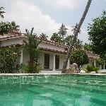 View of villa from the pool