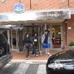 Front door to hotel Triangoli