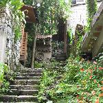 The stairs heading to Rupa Wasi