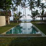 Swimming pool looking toward beach