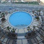 Our view of the outdoor pool