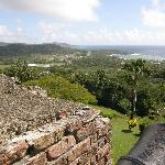 View looking to the northeast from hills of Fort King George, Tobago