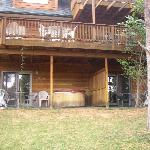 Our porch and hottub