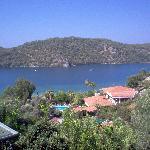 view over oludeniz lagoon and hotel heri