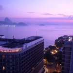 Sunrise over Copacabana and Arpoador