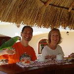Bob & Nancy Enjoying Breakfast at Hotel Xalteva