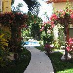Walkway to pool area