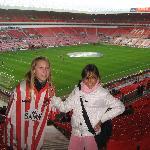 Zahava & Bethany at the Stadium of Light