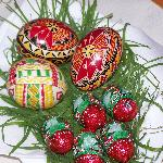 Traditional Easter eggs in our room