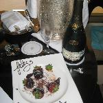 Champagne from the hotel