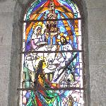 Stained Glass window in Mary Magdalene's grotto