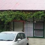 Park outside your room at Mount Black Lodge Rosebery Tasmania