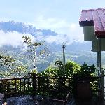 Chalet With Mount Kinabalu Backdrop