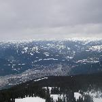 From Revelstoke Mountains Resort looking down at the town of Revelstoke