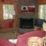 Living room of cabin