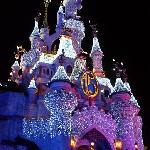 Sleeping Beauty Castle At Night.