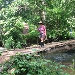 Crosing a bridge