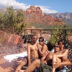 hanging out at the pool area...  beautiful 360 degree view of the red rock canyons.  breathtakin