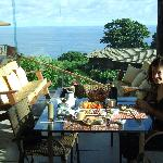 breakfast with view on the sea