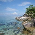 The sea looking from Minang Cove