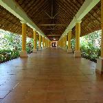 Walkways in the hotel