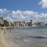 Playa muy hermosa y limpia