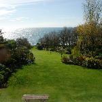 View over the garden