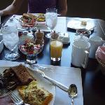 Broader shot of breakfast