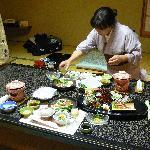 Maid Preparing Dinner
