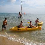 crystal clear sandbottom  warm water