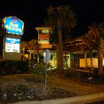 Best western at night.