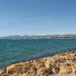 The sea 100 metres away