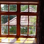 The window in one of the bedrooms in a cottage at the Hayes