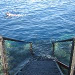 scaletta d'accesso alla barriera