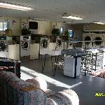 This is a pic, of the full size laundrymat that they have that is also open to the public to....
