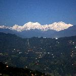 Night view of the Kanchenjunga, from the terrace of the dining hall