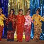 Dancers dressed in traditional costume