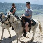 Todd & I riding along the beach in Punta Cana
