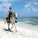 Cantering along the beach in Punta Cana