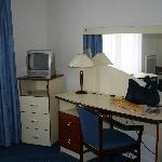 Room desk area
