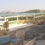 terrace facing the lake