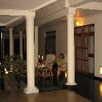 The verandah at night