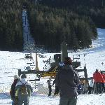 The chair lift to the blue run