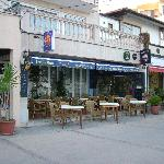 Melis bar, great views out to sea, ideal for pre diner drink