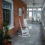 Beautiful enclosed front porch