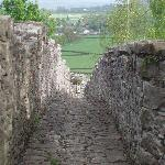 walking on the town walls