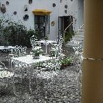 The courtyard of the hotel - very nice