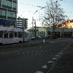 Trams run right next to the hotel.