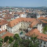 View of Old Brno from Cathedral Tower 2