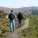 This marked path into the hills starts at the Ben View.